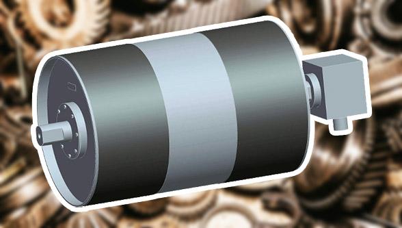 мотор-барабан ленточный конвейер